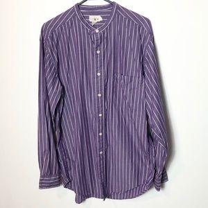 J. Crew casual cotton purple button front shirt